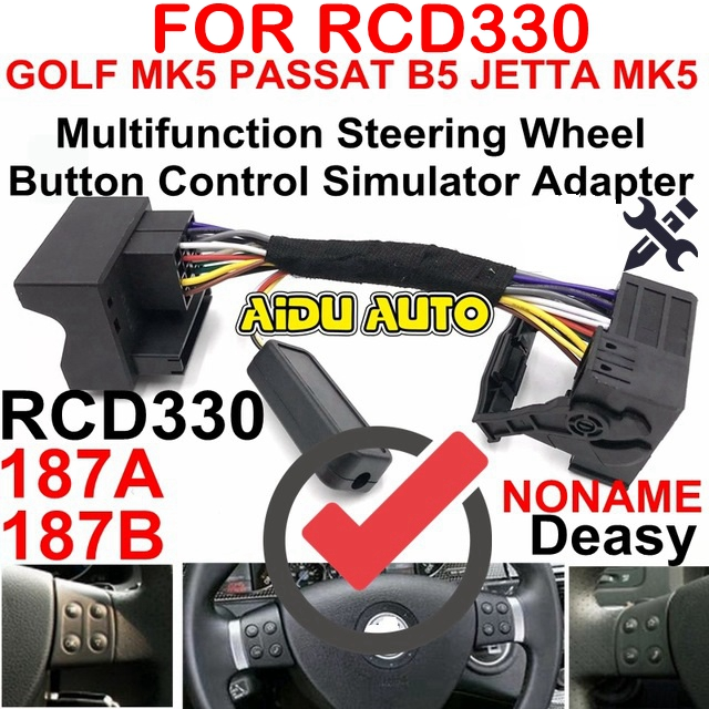 Rcd330 Multifunction Steering Wheel On Control Canbus Gateway Simulator Adapter For Vw Golf 5 6 Jetta