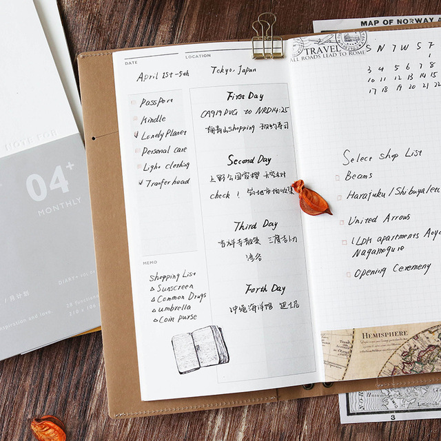 7 Designs Traveler\u0027s Notebook Planner Refilll Replace Inner DIY