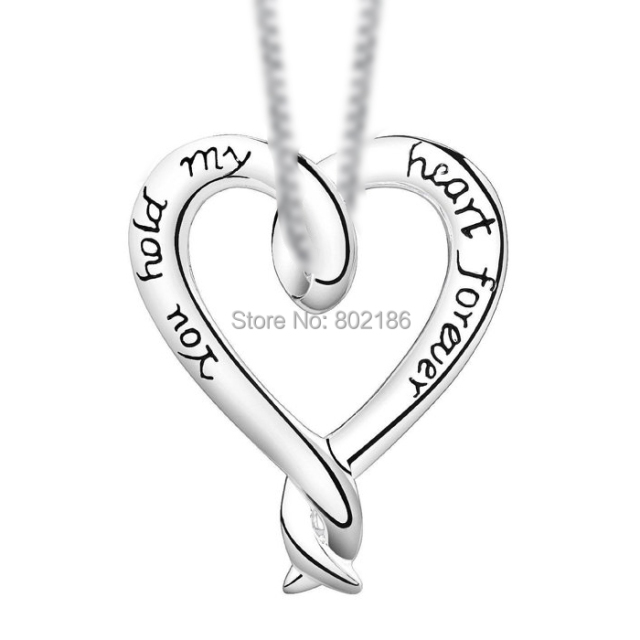 shaped unique necklace pendant sterling for day colored silver multi product rsp valentines heart