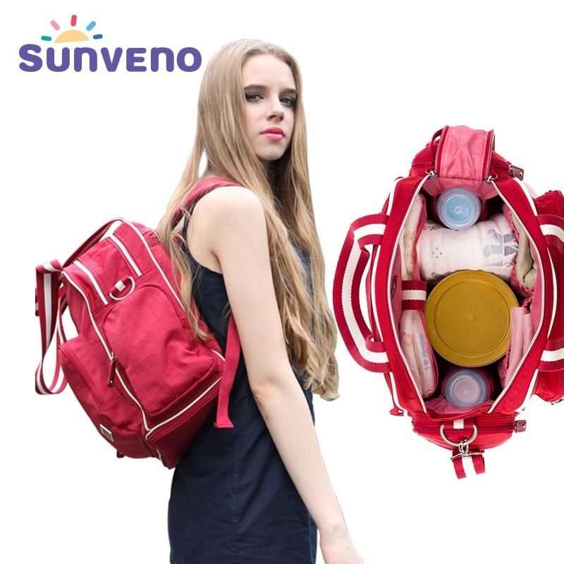 Sunveno Fashion Baby Bag Brand Cochecito de maternidad Bolsa de pañales de gran capacidad Mochila de viaje para mamá Bolsa Maternidade