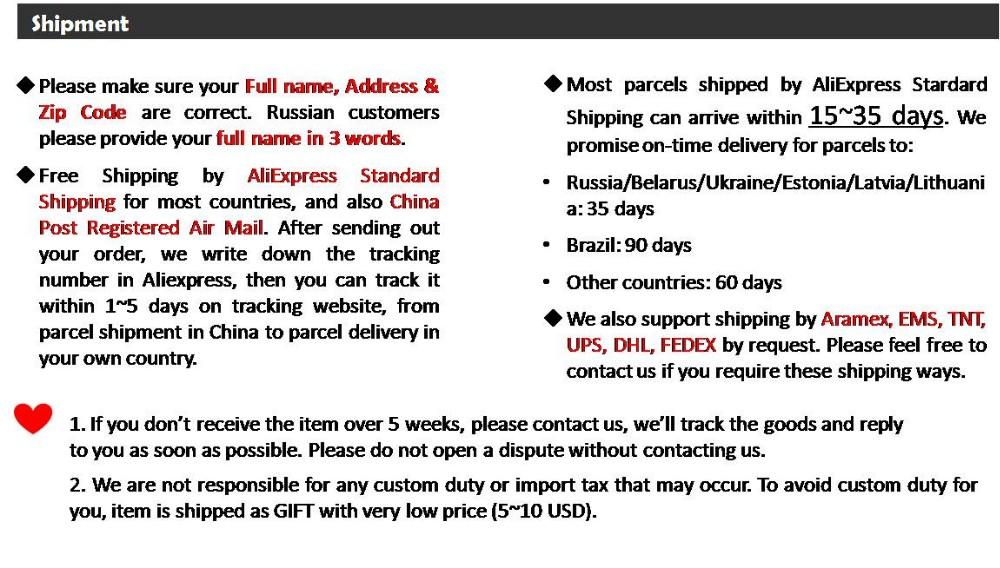 Final  notice 2-Aliexpress standard shipping