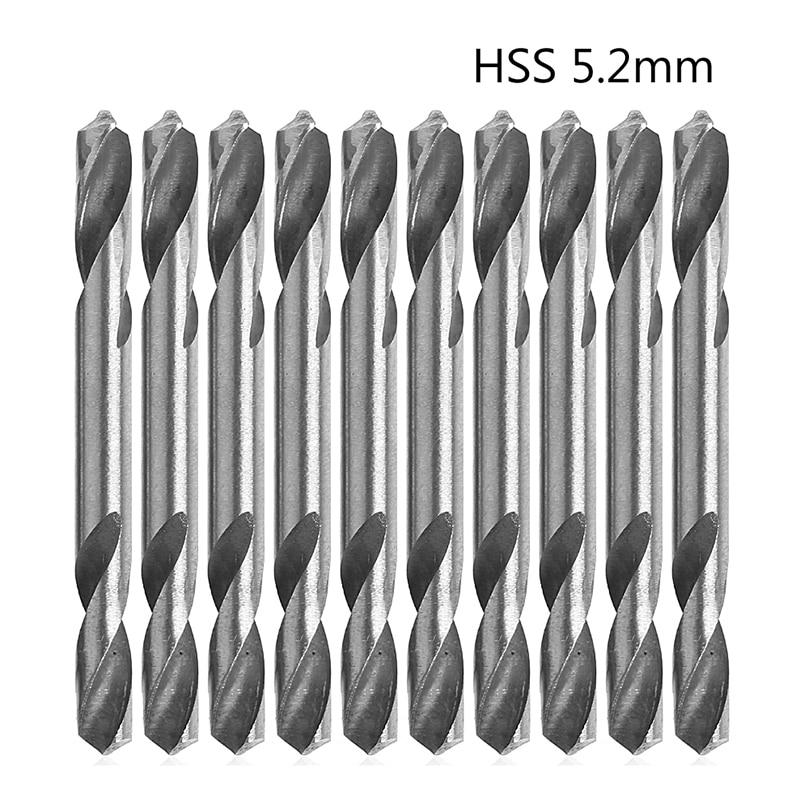 10Pcs/Set 5.2mm HSS Double Ended Spiral Torsion Drill Tools Drills H02  биты hot torsion 7011sb ph2x25 10 шт wiha 32061