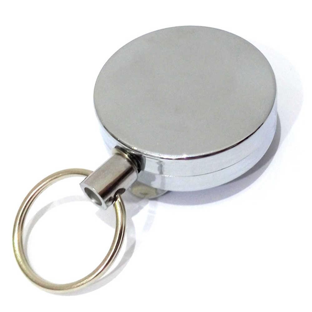 Suti 2017 Hot Menjual Gantungan Kunci Mini Outdoor Gesper Keselamatan Retractable Tali Gantungan Kunci Anti Hilang Logam Gantungan Kunci