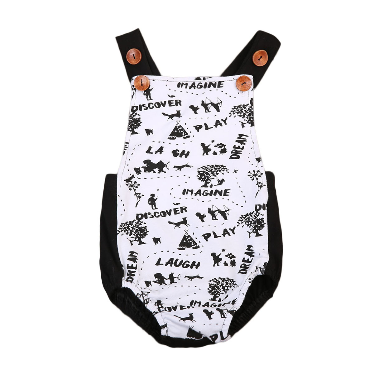 Fashion Buttons Toddler Baby Boys Girls Romper Jumpsuit Sunsuit bodysuit romper baby clothes Clothes