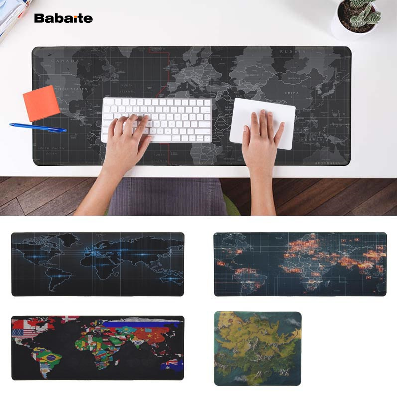 Babaite New Design Old World Map Laptop Computer Mousepad Free Shipping Large Mouse Pad Keyboards Mat