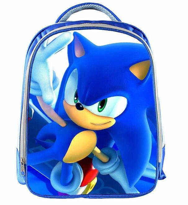 13 Inch Cartoon Sonic Backpack 13