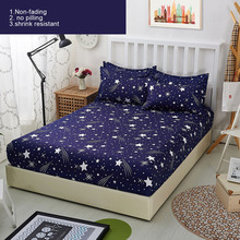 Blue Night Sky Printed Series Bedspreads Bed Supplies Bedding Fitted Sheet Mattress Cover 120*200cm 150*200CM 180*200CM P20
