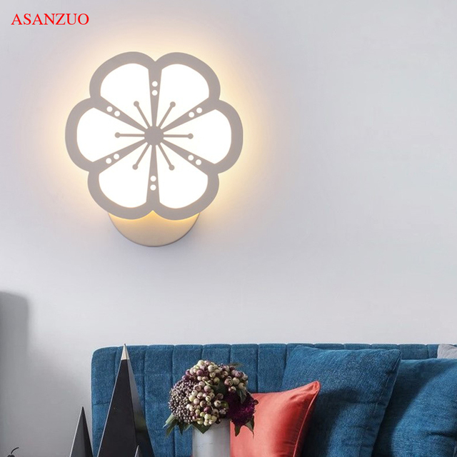 New creative acrylic indoor wall lamps modern living room led wall sconce lights bedroom bedside lamp stair lampara de pared bra