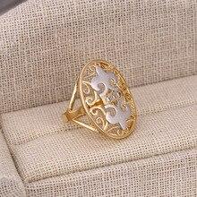 Xuping anillo de moda Multicolor chapado en oro sintética CZ estilo europeo de calidad superior marca joyería para mujeres S24-12308