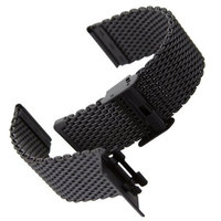 Watchband 22mm Black Strap Bracelet For HoursStainless Steel Strap For Wrist Watch GD014322