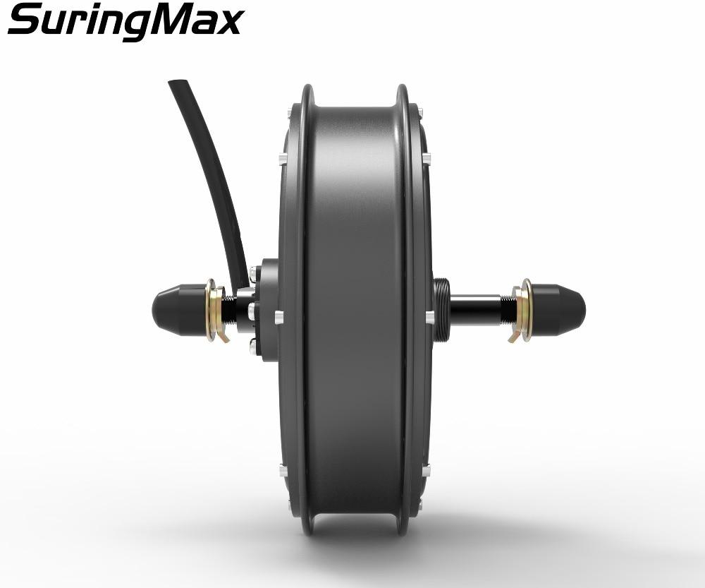 Darmowa wysyłka 120Kph V3 45H magnes 3000W bezszczotkowy silnik piasty bez biegów do tyłu elektryczny rower elektryczny