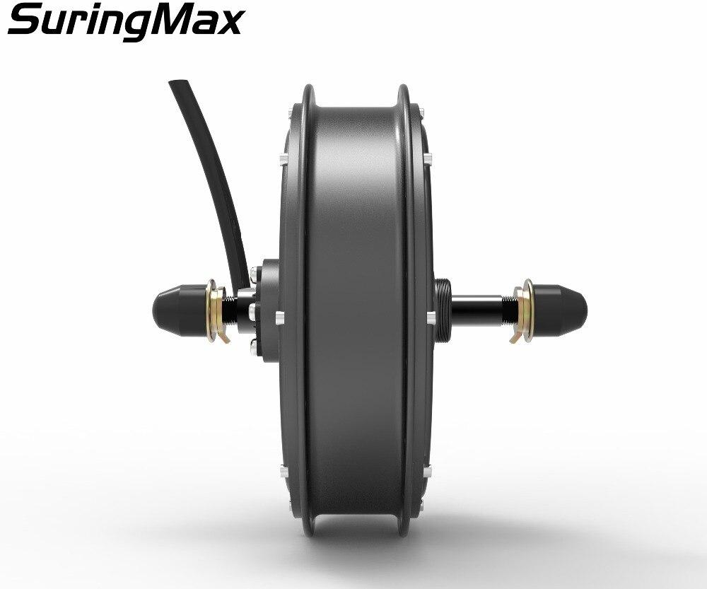 Freies verschiffen 120Kph V3 45H magnet 3000W bürstenlosen keine-getriebe hub motor für hinten elektrische fahrrad elektrische fahrrad