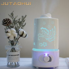 JTH-018 1500ml Ultrasonic Air Humidifier for Home Essential Oil Diffuser Humidificador Mist Maker 7Color LED Aroma Aromatherapy цена