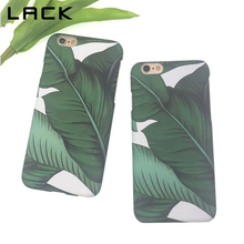 LACK Phone Case For iphone 6 6S Plus Tropical Banana Leaf Back Cover Luxury Hard Scrub Cases Lovely Cartoon Plants Leaves Capa