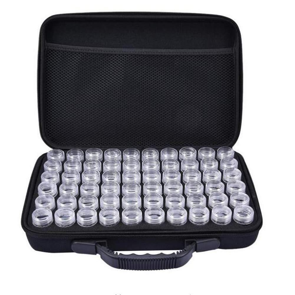 60 bouteilles pleine boîte de rangement carrée en diamant nouveau diamant broderie diamant peinture outil forage sac à main à fermeture éclair Design