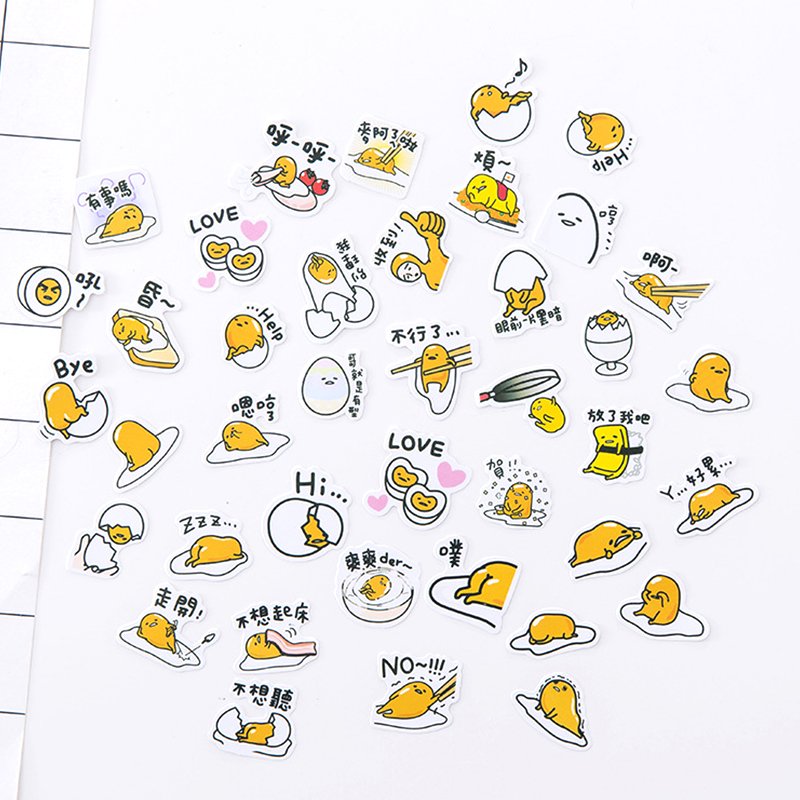 Cartoon Gudetama Paper Sticker Kawaii Girl Bear Decoration DIY Diary Scrapbooking Label Stickers Stationery School Supplies