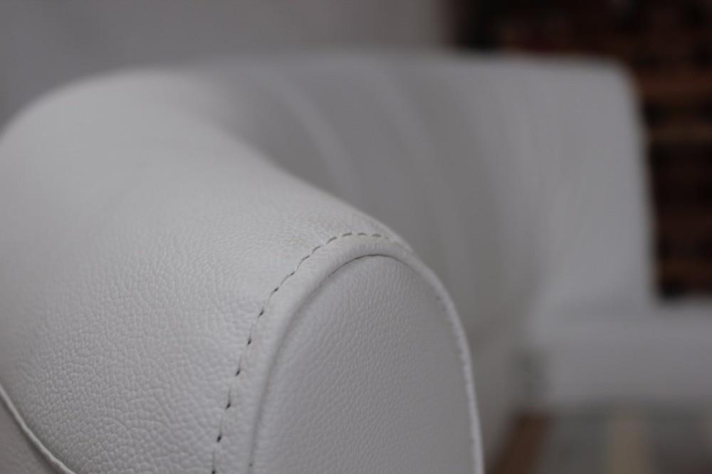 Cama redonda de lujo extra grande, cama suave de cuero de grano - Mueble - foto 5