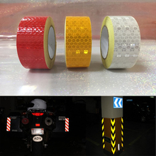 25mm x 5m  Reflective Bicycle Stickers Adhesive Tape For Bike Safety White Red Yellow