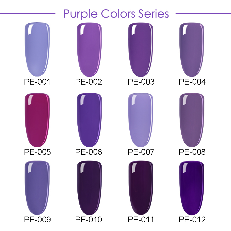 NACIDO PRETTY Nail Art UV Gel Soak Off UV Polish Charming Purple - Arte de uñas - foto 3