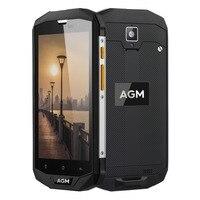 Original AGM Impermeable A8 Teléfono 5.0 pulgadas Android 7.0 Qualcomm MSM8916 Quad Core 3 GB RAM 32 GB ROM 13MP OTG LTE 4G Smartphone NFC