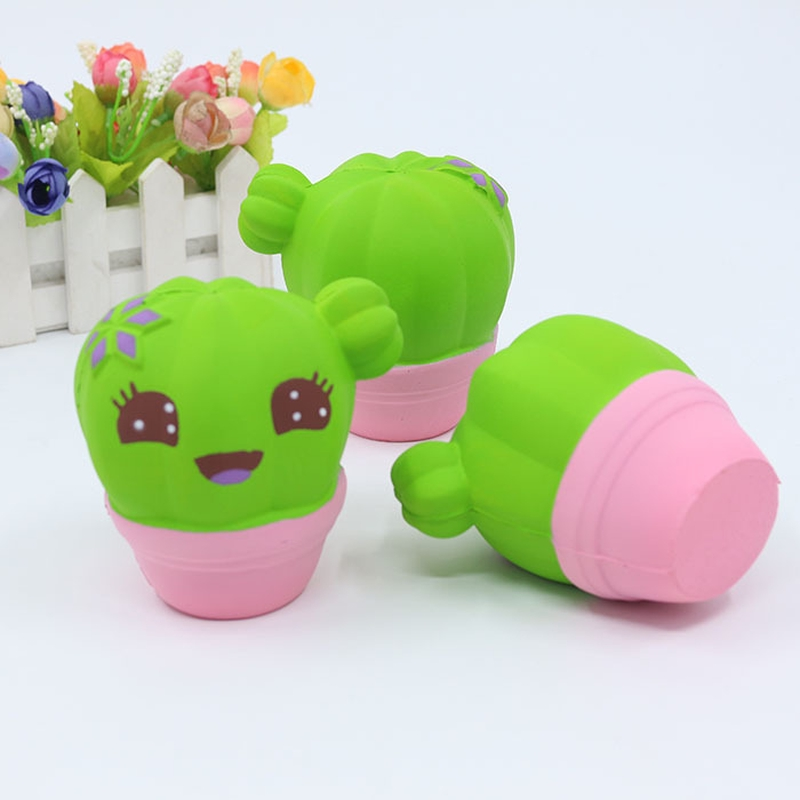 Mini Cactus Cream Scented Squishy Slow Rising Squeeze Kids Children Baby Toys enlarge