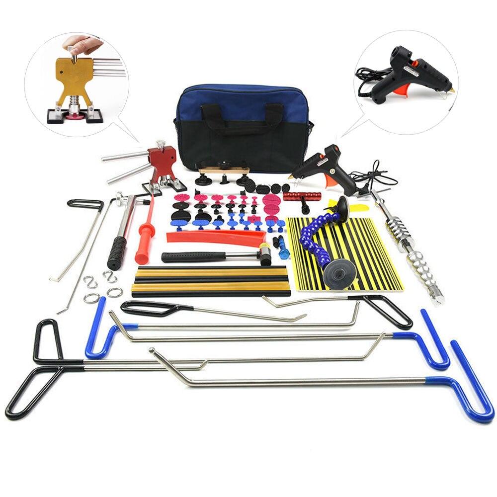 PDR инструментов Крючки толкателей Дент удаления автомобиль вмятина ремонт комплект для ремонта кузова автомобиля Paintless Дент Ремонт Tool Kit