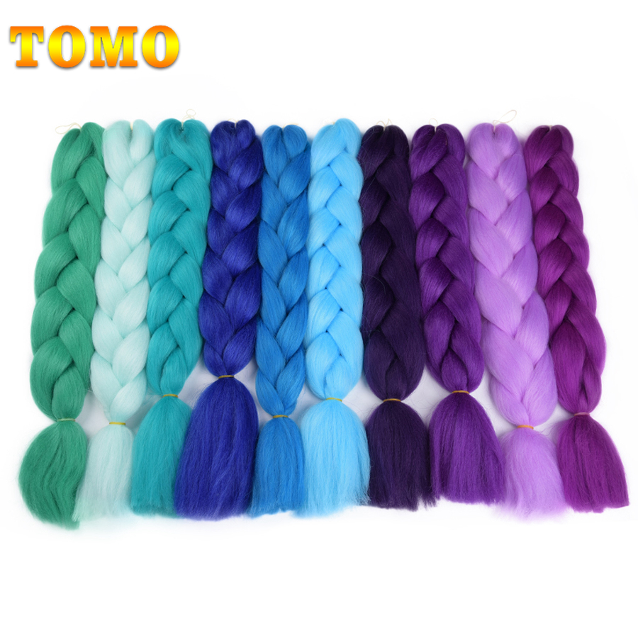 Hair Braids Tomo Ombre Braiding Hair Jumbo Braids 24inch 100/pack Synthetic Two And Three Tone Kanekalon Fiber Braid Hair Extensions Good Companions For Children As Well As Adults