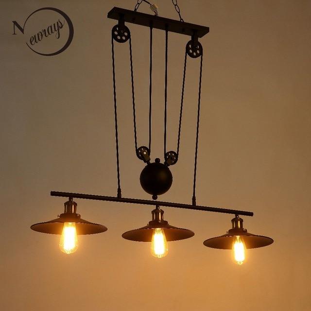 nieuwe loft amerika katrol lifting hanglampen creatieve industrile vintage verlichting voor eetkamerbarrestaurant