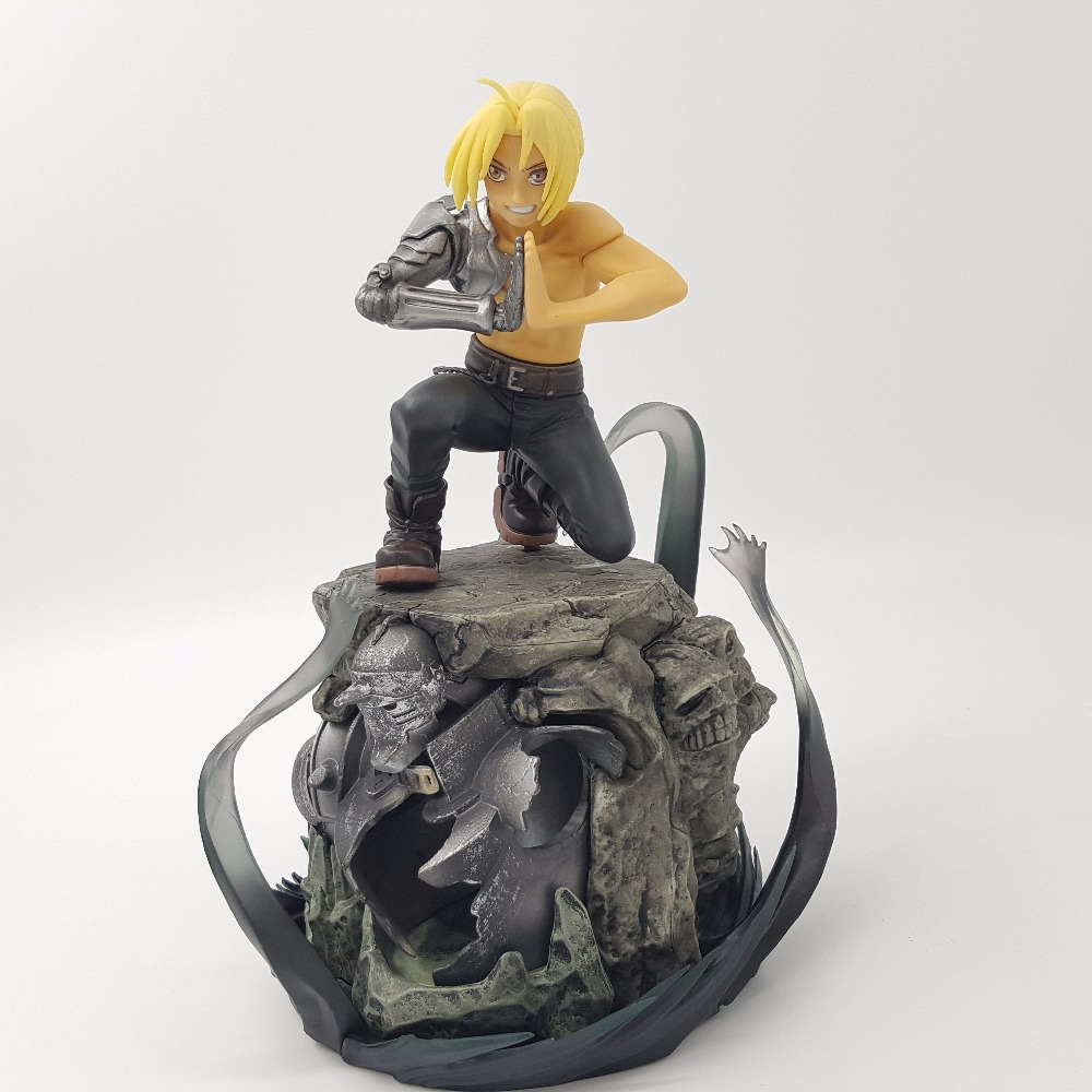 Fullmetal Alchemist Action Figure Edward Elric PVC Collection Model Toy Figurine Diorama Anime Fullmetal Alchemist new cinderella princess girl dress kids christmas dresses costume for girls party crown necklace fantasia dress kids clothes