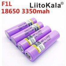 10 pçs/lote INR18650 F1L Liitokala 18650 bateria 3350 mAh Bateria Recarregável 3400