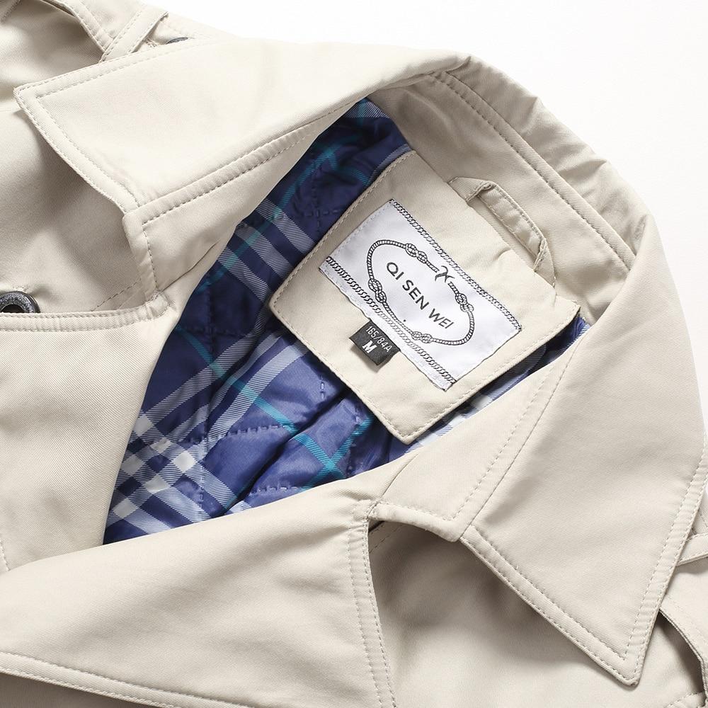 TAIZIQI Lungo cappotto di trincea degli uomini di addensare capispalla per uomo mens cappotti lunghi giacca a vento giacca casual caldo cappotto per mens - 5