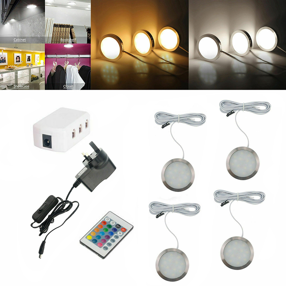 Kit Cupboard Remote Control Decoration RGB With Cable Under Showcase Wardrobe Led Cabinet Light Night Recessed Ultra Thin Panel