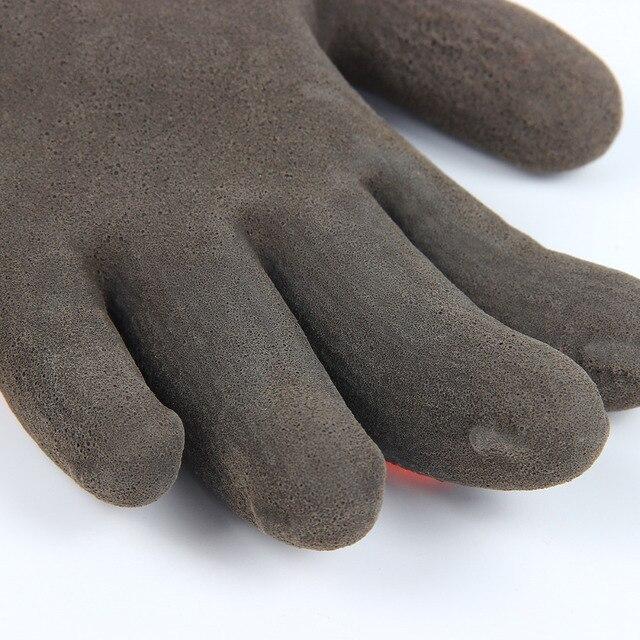 Guantes de trabajo Anti-frío de alta visibilidad recubierto de nailon y látex antideslizantes resistentes al desgaste suave y cómodo M L XL suministros de jardín