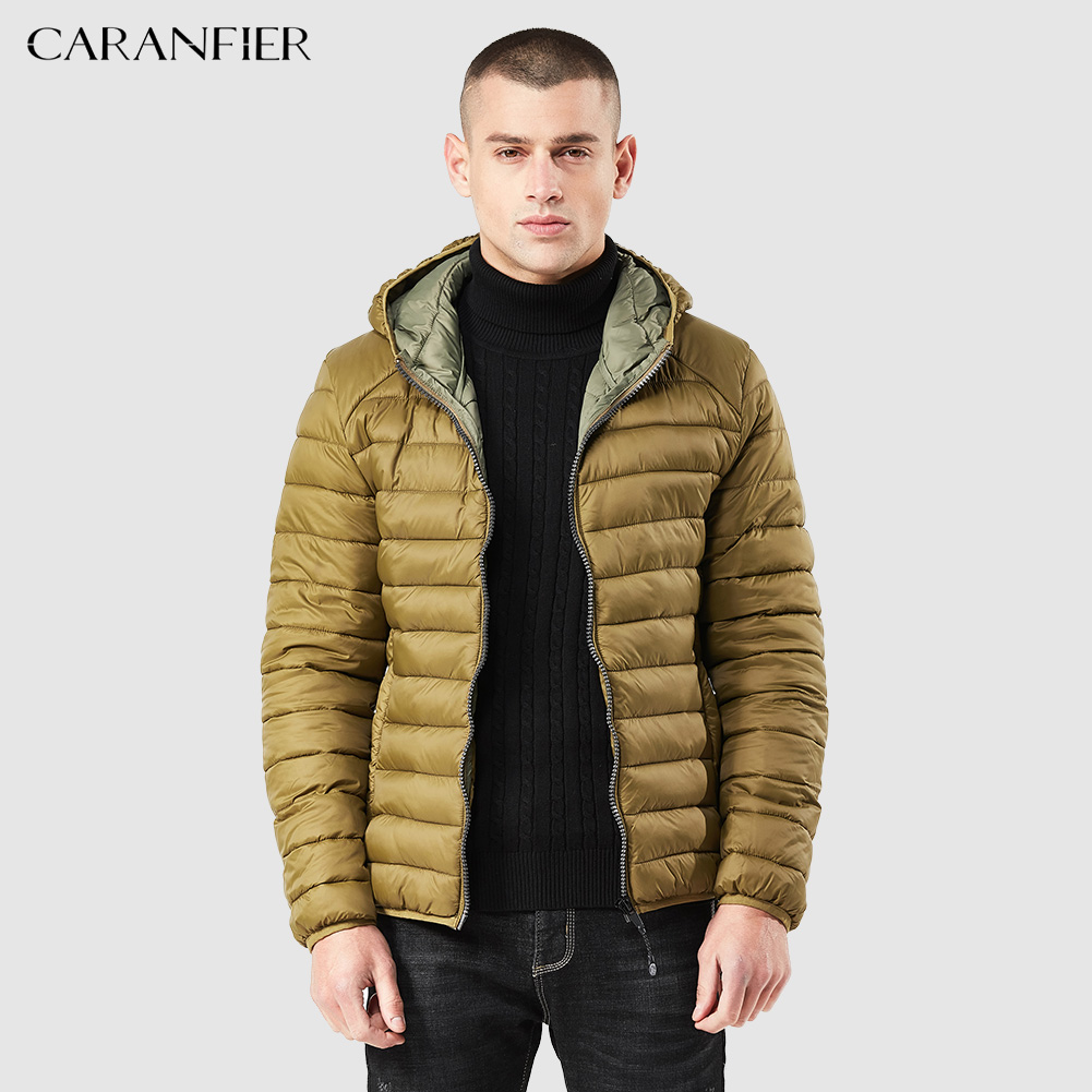 CARANFIER Winter Parka Men 2018 New Winter Coat Men Simple Light Warm Padded Hooded Multi-color Warm Ultralight Outwear Coat ...