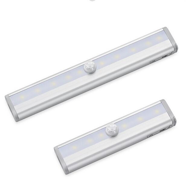 Armoire Lumières PIR détecteur de mouvement LED Armoire Lumière Avec Adhésifs Autocollant Capteur PIR lampe à LED Pour Placard de Cuisine