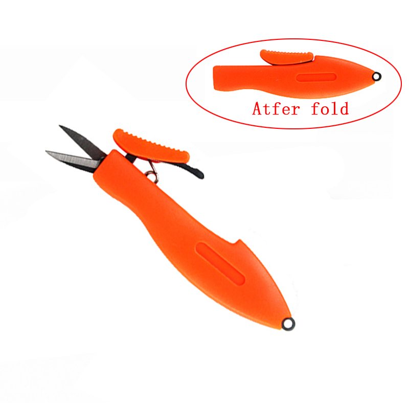 Shrimp-Shaped Stainless Steel Fish Use Scissors Accessories Folding Fishing Line Cut Clipper Fishing Scissor Tackle