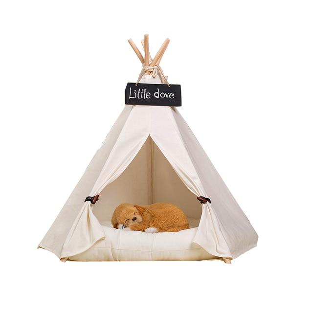 faltbare pet bett pet zelt hund bett katze bett tipi zelt pet play haus mit. Black Bedroom Furniture Sets. Home Design Ideas