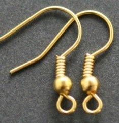 OMH Wholesale 100pcs Golden Silver Black 5 Colors Choose Metal Earring Hooks Pendant 19mm Earrings Hoops Stud Drop DY34