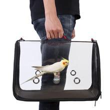 Портативный ПЭТ Птица Попугай Перевозчик прозрачная дышащая дорожная клетка сумка