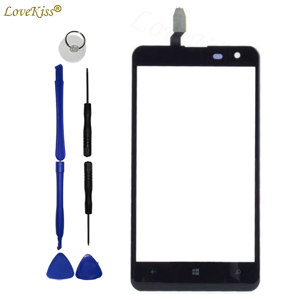 N625 Touchscreen Front Panel For <font><b>Nokia</b></font> <font><b>Lumia</b></font> <font><b>625</b></font> N625 <font><b>Touch</b></font> <font><b>Screen</b></font> <font><b>Sensor</b></font> LCD Display Digitizer Glass Cover Replacement Tools image