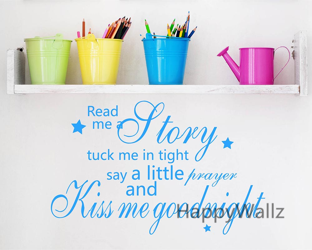 Kiss Me Selamat Malam Penawaran Wall Sticker Bayi Nursery Kiss Me - Dekorasi rumah - Foto 3