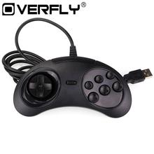 for SEGA Genesis/MD2 Y1301 Gamepad USB Game Controller 6 Buttons SEGA USB Gaming Joystick Holder for PC MAC Mega Drive Gamepads(China)