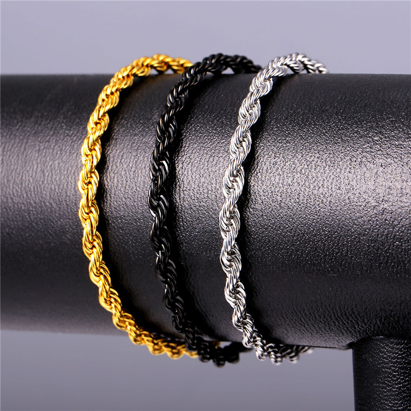 Stainless Steel Rope Bracelets