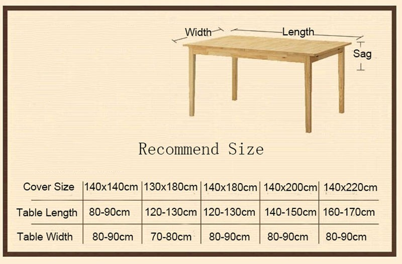 GIANTEX Tower Print Decorative Table Cloth Cotton Linen Lace Tablecloth Dining Table Cover For Kitchen Home Decor U0996 4