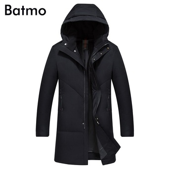 Batmo 2018 new arrival high quality white duck down hooded jackets men,men's winter caot,plus-size M-4XL 18056