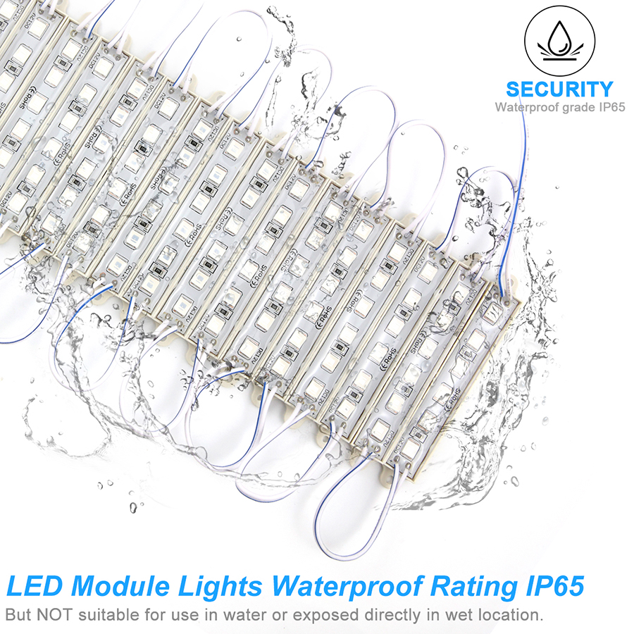 SMD 5054 LED Module Light 6LEDs DC12V Waterproof Advertisement Sign Logo Backlight LED Modules Strip Lights Tape Lamp ( Blue ) (76)