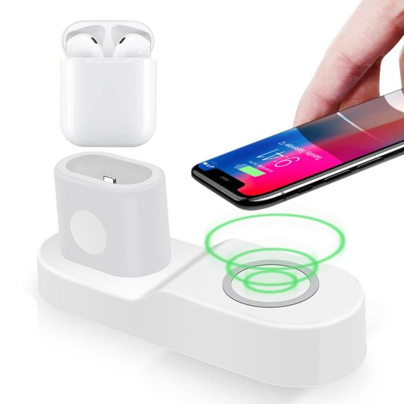 Chargeur sans fil pour iPhone 8 X XS Max USB Qi Dock de charge pour Apple Watch 2 3 4 chargeur support pour samsung S9 chargeur sans fil