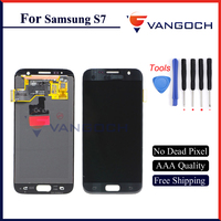 VANGOCH Free Shipping 100 Tested Super AMOLED For Samsung Galaxy S7 G930 G930F Display LCD Touch