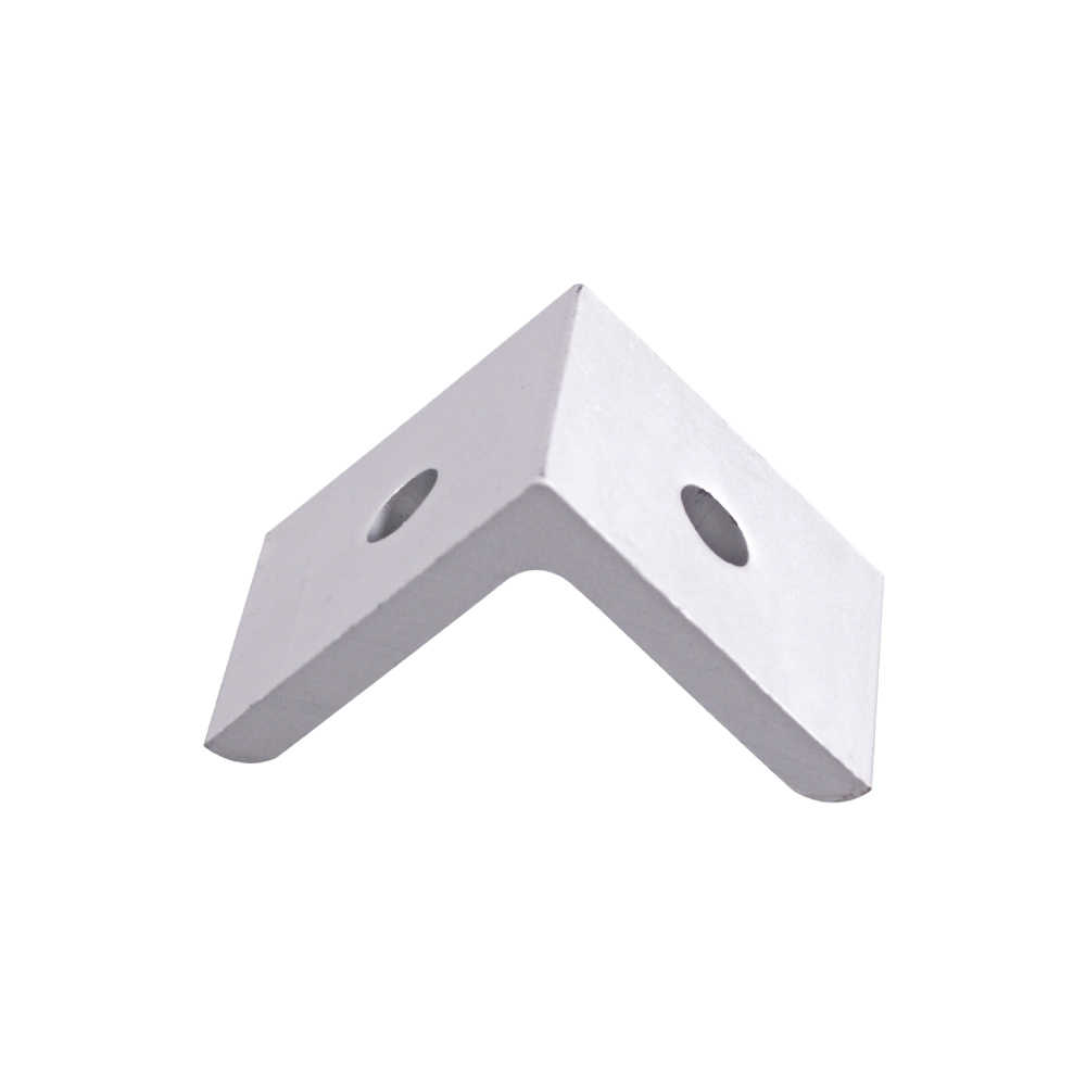 30 x 30 x 26mm 2 Hole 3030 Series Inside Corner Bracket for  Aluminum Extrusion Profile with Slot 8mm 10 Pieces