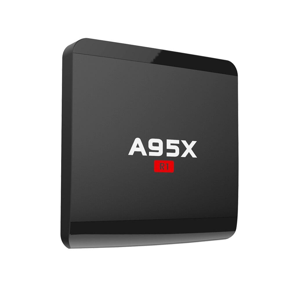 Prix pour 5 PCS A95X R1 OTT Android TV Box RK3229 Quad Core Smart TV Box 1G 8G Android 6.0 Media Player 4 K * 2 K WiFi MINI PC